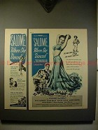 1945 Salome Where She Danced Movie Ad - Yvonne DeCarlo!
