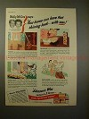 1945 Johnson's Wax Ad w/ Molly & Fibber McGee, Shining!