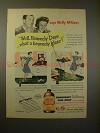 1945 Johnson Glo-Coat Ad - Molly & Fibber McGee, Glaze!