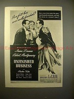 1941 Unfinished Business Movie Ad - Irene Dunne, Foster