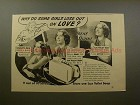 1939 Lux Soap Ad w/ Irene Dunne - Some Girls Lose Love!