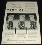 1956 Yashica A, C, & LM TLR Camera Ad, Camera Value!!