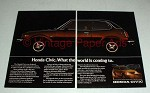 1975 Honda Civic CVCC Car Ad - World is Coming To