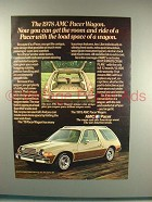1978 AMC Pacer Wagon Ad - Room and Ride!