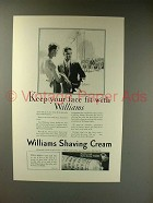 1927 Williams Shaving Cream Ad - Keep Your Face Fit
