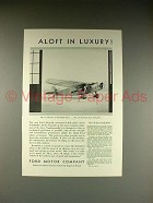 1930 Ford De Luxe Club Plane Ad - Aloft in Luxury