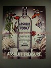 1987 Absolut Vodka Ad, Absolut Treasure - Tropical Fish