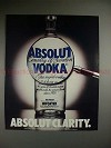 1987 Absolut Vodka Ad - Absolut Clarity - Magnifying!!!