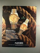 1987 Rolex Datejust and Lady Datejust Watch Ad!!