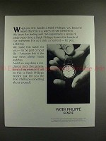 1988 Patek Philippe Watch Ad - Aware of Rare Perfection