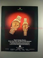 1989 Rolex Day-Date & Lady Datejust Watch Ad - Rulers!!
