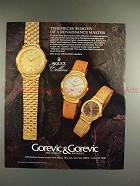 1989 Rolex Cellini Watch Ad - Damier, Milanese, Leather