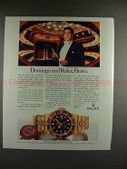 1989 Rolex GMT Master Watch Ad with Placido Domingo!!