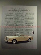 1990 Rolls-Royce Convertible Car Ad - Six Months Build!
