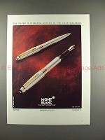 1992 Montblanc Solitaire Pen Ad, Sterling Craftsmanship