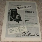 1953 Voigtlander Bessa I Camera Ad, Fully Synchronized!