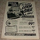 1953 Leica If, IIf, and IIIf Camera Ad - Greatest Sale!