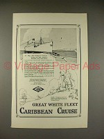 1923 Great White Fleet Caribbean Cruise Ad - 23 Day