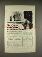 1923 Pacific Mail Steamship Co. Ad - Ships to Orient