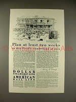 1929 Dollar Steamship Line Ad - Plan Two Weeks