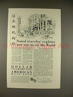 1929 Dollar Steamship Line Ad - Noted Traveler