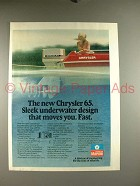 1977 Chrysler 65 Outboard Motor Ad - Sleek Design