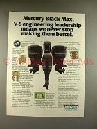 1980 Mercury Black Max Outboard Motor Ad - Leadership