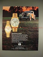 1987 Rolex Day-date Watch Ad w/ 1928 Hispano Suiza Car!
