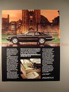 1986 Jaguar XJ-S Car Ad - Utter Smoothness and Silence!