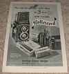 1953 Rollei Rolleicord Camera Ad - Use all Color Films!