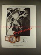 1986 Omega Constellation Watch Ad - Pure Pleasure!!