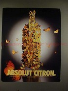 1998 Absolut Vodka Ad - Absolut Citron - Butterflies!!