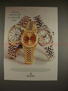 1998 Rolex Lady Datejust & Oyster Perpetual Watch Ad!