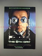 2000 The 6th Day Movie Ad w/ Arnold Schwarzenegger!!