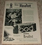 1953 Stereo Realist Camera Ad, Give Present w/ Future!!