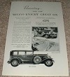 1929 Willys Knight Six Sedan & Roadster Ad!!