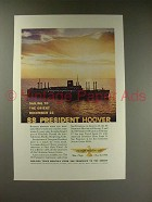 1960 American President Lines Ad - SS President Hoover