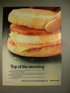 1980 McDonalds Egg McMuffin Ad - Top of the Morning