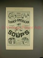 1897 Franco-American Soup Ad - Used Every Where