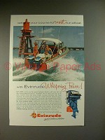 1956 Evinrude Big Twin Outboard Motor Ad - Whispering