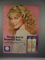 1980 Wella Balsam Conditioner Ad with Cheryl Ladd!!