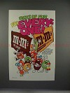 1985 M&M's Candy Characters Ad, Sports - Packs of Fun!!