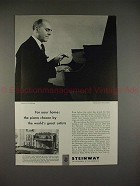 1952 Steinway Piano Ad with Solomon - For Your Home!!