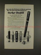 1926 Parker Lady Duofold, Duofold Jr & Over-Size Pen Ad