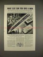 1935 Parker Vacumatic Pen Ad - What Else Can You Give?!