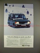 1995 Land Rover Discovery Ad - School Rarely Cancelled!