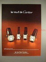 1979 Cartier Watch Ad - Le Must de Cartier - NICE!!