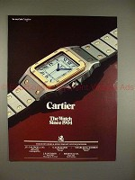 1984 Cartier Watch Ad - Le Must de Cartier - Since 1904