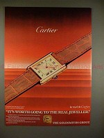 1984 Cartier The Must Tank Watch Ad - It's Worth Going!