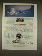 1995 Rolex Oyster Explorer II Watch Ad w/ Erling Kagge!